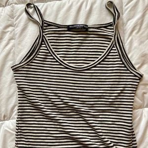 Brandy Melville striped ribbed crop